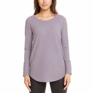 Chaser Purple Wisteria Waffle Knit Top XXL